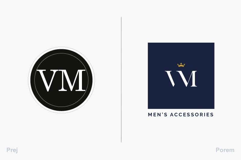 Prej in potem logotip Virum.