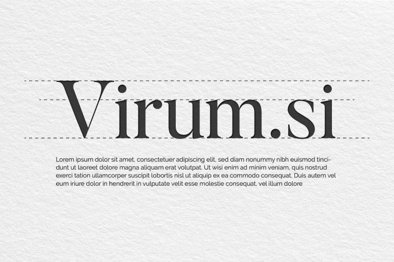 Določitev pisav za celostno podobo Virum.