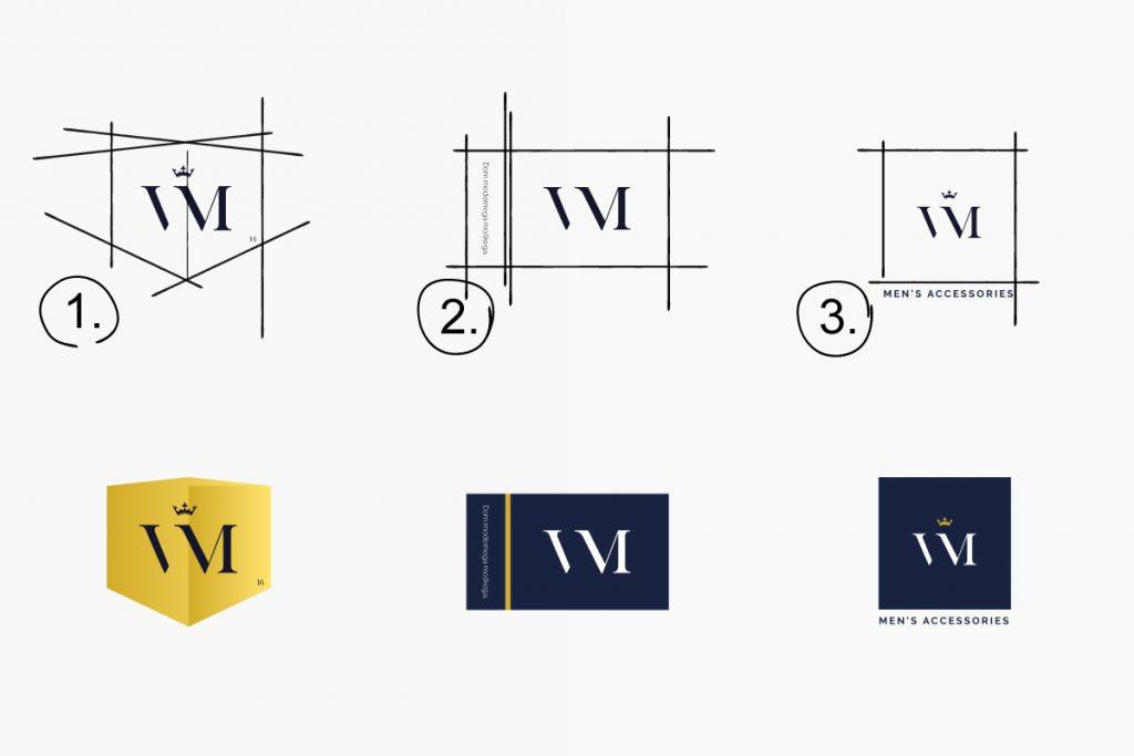 Proces izbire logotipa spletne trgovine Virum.