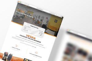 Izdelava predstavitvene spletne strani Salon-vesna.si