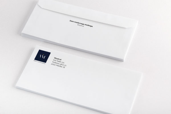 Kuverta celostne identitete Virum.si