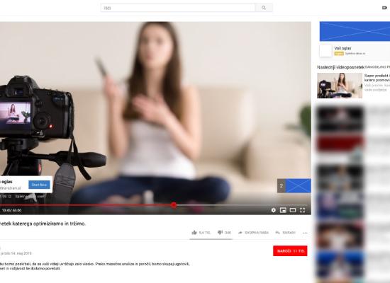 Youtube video oglaševanje Maribor.
