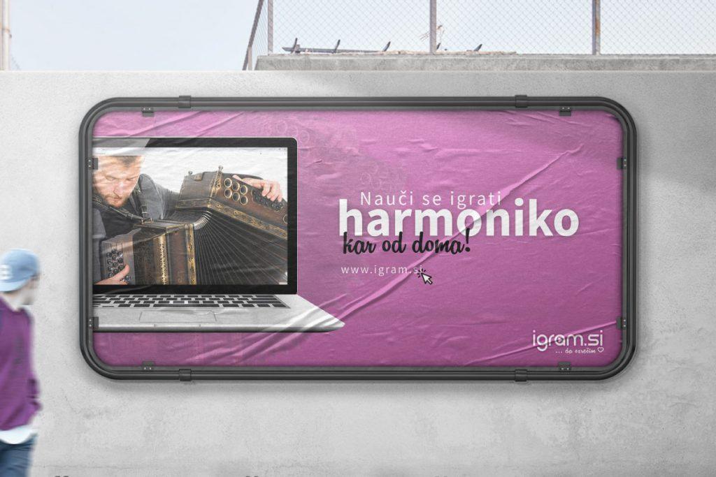 Oblikovanje reklamnega plakata Igram.si