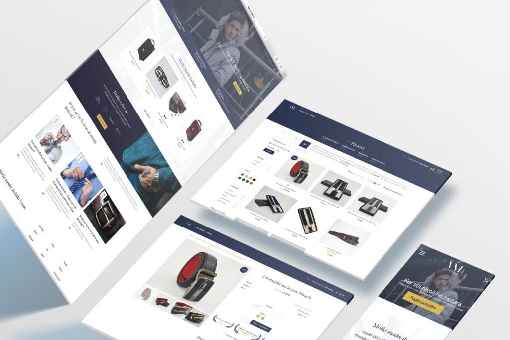 Oblikovanje in postavitev spletne trgovine Virum.si